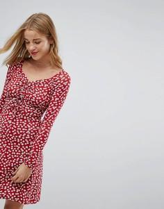 Чайное платье со сборками Nobodys Child - Красный