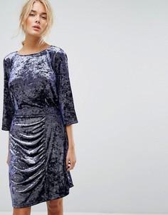 Платье из мятого бархата Gestuz - Фиолетовый
