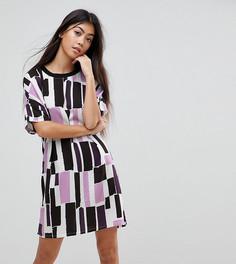 Платье-футболка с принтом Noisy May Petite - Мульти