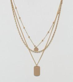 Ожерелье-чокер в три ряда Monki - Золотой