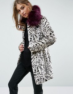 Пальто с искусственным мехом Unreal Fur - Мульти