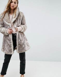 Пальто Unreal Fur Elixir - Бежевый
