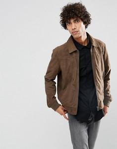 Серо-коричневая замшевая куртка Goosecraft - Коричневый