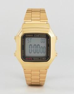 Цифровые часы в винтажном стиле Casio A178WGA-1 - Золотой