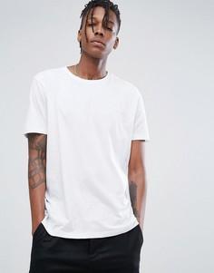 Белая футболка с круглым вырезом и логотипом HUGO - Белый