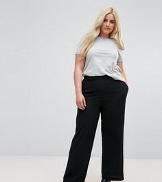 Черные широкие брюки New Look Curve - Черный