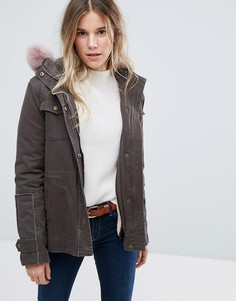 Куртка с капюшоном из овечьей шерсти Ugg - Зеленый