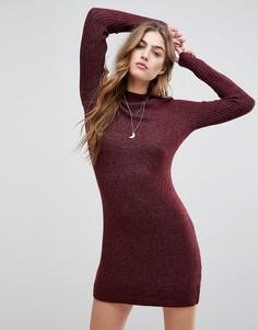 Трикотажное платье Abercrombie & Fitch - Фиолетовый