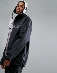 Черная горнолыжная куртка из растягивающегося в 4-х направлениях материала с капюшоном Armada Renard - Черный