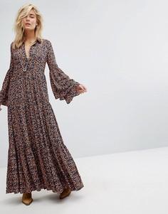 Свободное платье макси Free People - Мульти