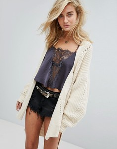 Кардиган оверсайз Free People Nightingale - Кремовый