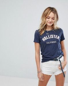 Футболка с логотипом Hollister - Темно-синий