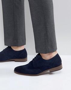 Темно-синие туфли из искусственной замши на шнуровке River Island - Темно-синий