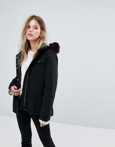 Куртка с капюшоном из овечьей шерсти Ugg - Черный