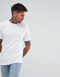 Белая обтягивающая футболка River Island - Белый