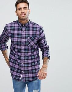 Фиолетовая рубашка в клетку River Island - Фиолетовый