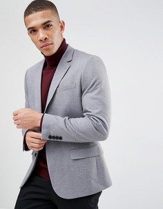 Серый приталенный блейзер в крапинку New Look - Серый