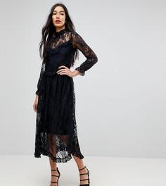 Платье с рюшами Y.A.S Tall - Черный
