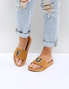 Золотистые замшевые сандалии Puma X Fenty - Золотой