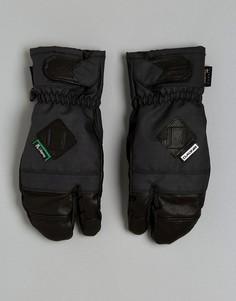 Лыжные варежки Dakine Leather Fillmore Trigger - Черный