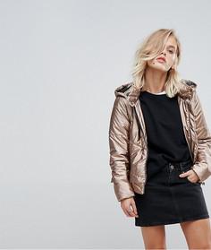 Дутая куртка с капюшоном Only - Золотой