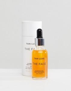 Капли для блестящего автозагара Tan Luxe The Face - Светлый/средний 30 мл - Бесцветный