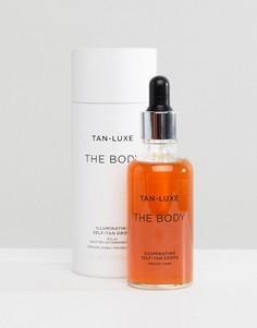 Капли для блестящего автозагара Tan Luxe The Face - Средний/темный 50 мл - Бесцветный