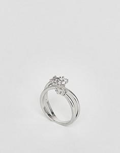Кольцо с цветком New Look - Серебряный