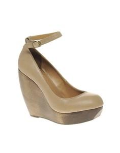 Туфли на танкетке с ремешком вокруг щиколотки Shellys Caramel - Черный