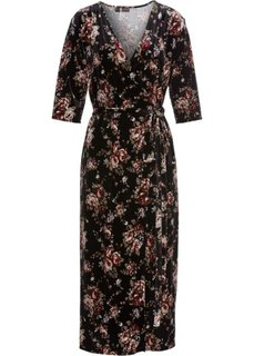 Бархатное платье (черный с рисунком) Bonprix