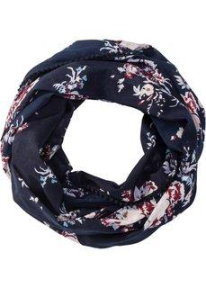 Шарф-снуд в цветочек (темно-синий) Bonprix