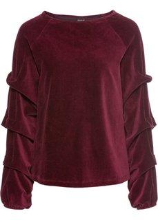 Бархатистая футболка (темно-бордовый) Bonprix