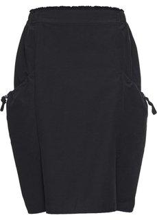 Юбка с карманами (черный) Bonprix