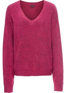 Пуловер в стиле оверсайз (ягодный меланж) Bonprix