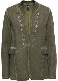 Куртка из трикотажа (оливковый) Bonprix