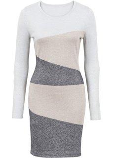 Вязаное платье (серебристый/антрацитовый/золотистый) Bonprix