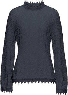Блузка из трикотажа (ночная синь) Bonprix
