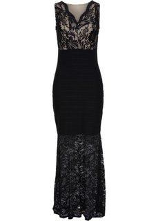 Кружевное вечернее платье (черный) Bonprix
