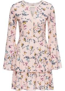 Тканое платье с принтом (розовый) Bonprix
