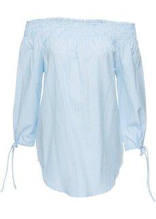 Блузка (белый/нежно-голубой в полоску) Bonprix