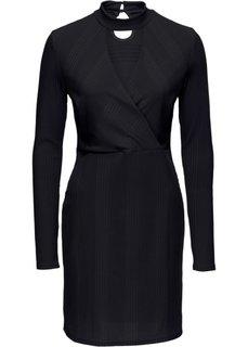 Трикотажное платье с чокером (черный) Bonprix