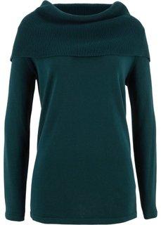 Пуловер с длинными рукавами (петролевый) Bonprix