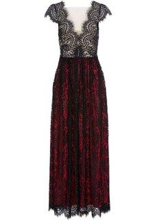 Кружевное вечернее платье (черный/красный) Bonprix