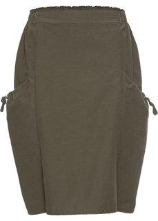 Юбка с карманами (темно-оливковый) Bonprix