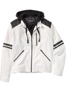 Куртка Regular Fit из искусственной кожи (белый) Bonprix