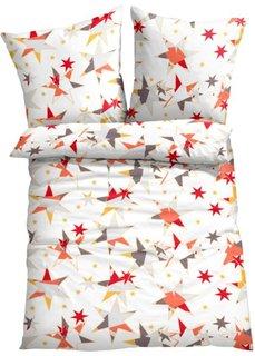 Постельное белье Звездочка, линон (белый/красный/желтый) Bonprix