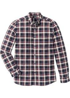 Клетчатая рубашка Regular Fit с длинным рукавом (бордовый в клетку) Bonprix