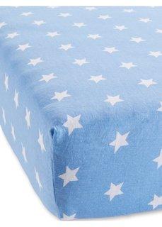 Эластичная простыня на резинке Звезды (синий) Bonprix