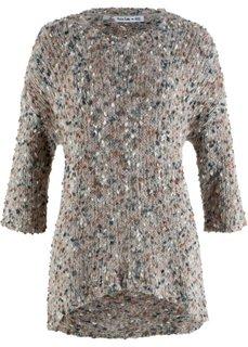 Вязаный пуловер дизайна Maite Kelly (меланжевый натуральный камень) Bonprix