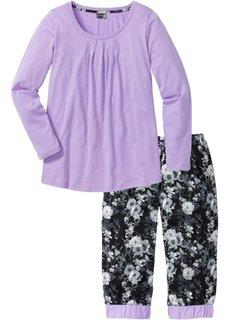 Пижама-капри (сиреневый с рисунком) Bonprix